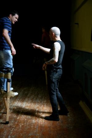irish stilt walking teacher