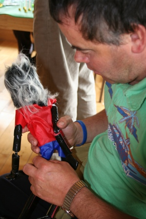 Arts in disability puppet workshops with Artastic