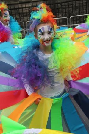 Artastic colourful carnival costumes