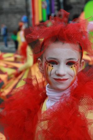 Young carnival sun dancer