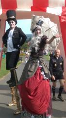 Steam punk stilts, Stilt walkers Ireland, entertainers