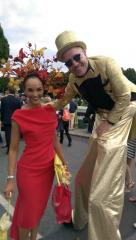 Best dressed stilt walker RDS, entertainers Ireland