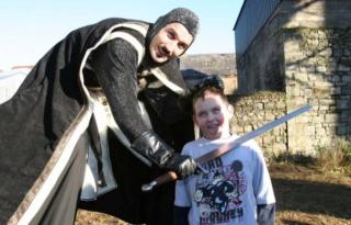 Medieval Stilt walkers Ireland, entertainers
