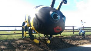 Inflatable Bee. inflatables, inflatable art