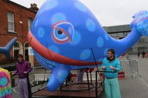 Inflatable Whale, Inflatabel art